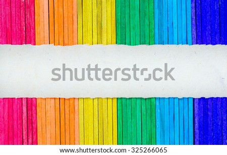 Colorful wood texture background with paper for add text.
