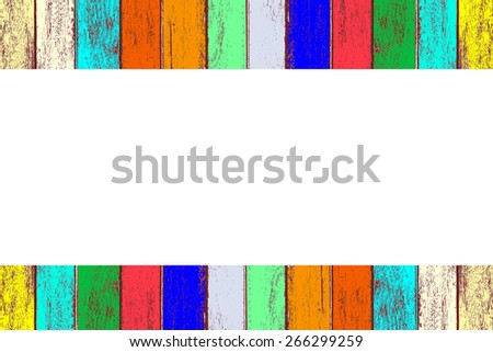 Colorful wooden background isolated on white background. - stock photo