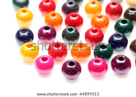 Colorful wooden beads