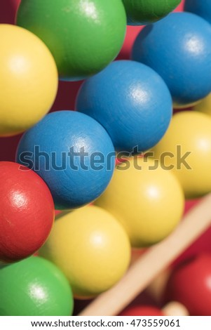 Colorful wooden beads background