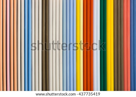 Colorful wooden blinder or shutters panel with paster tone.
