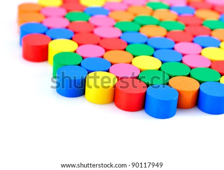Colorful wooden blocks background.