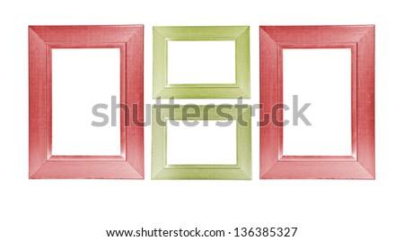Colorful Wooden Frames On White Background Stock Illustration ...