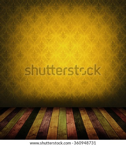 colorful wooden interior room. for background. - stock photo