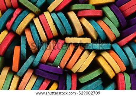 Colorful wooden sticks