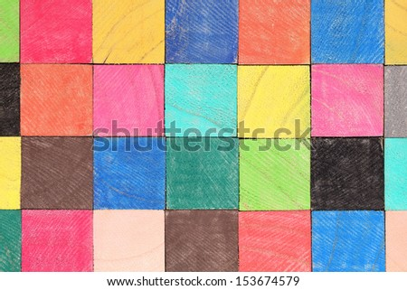 colorful wooden toy blocks,texture background - stock photo