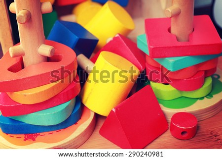 colorful wooden toys - instagram filter