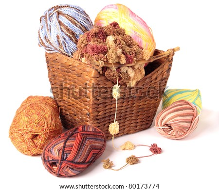 Colorful Wool - stock photo