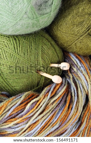 Colorful wool jar. - stock photo