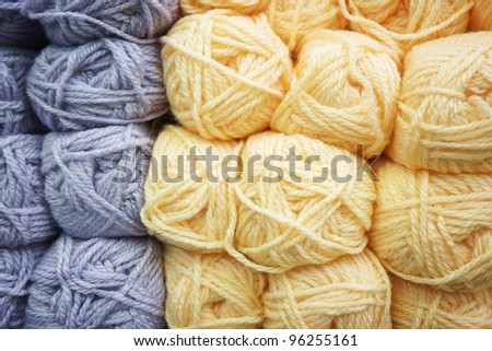 Colorful wool knitting - stock photo