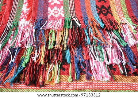 colorful woolen thread.