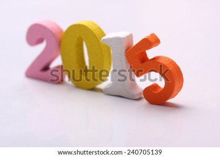 colorful word 2015 - stock photo