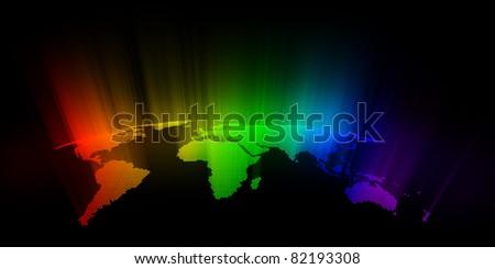 colorful world - stock photo