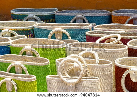 Colorful Woven Bags