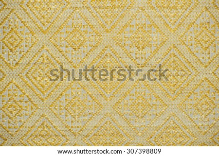 Colorful woven fabrics of banana tree close up More this motif & more textiles peruvian stripe beautiful background tapestry persian nomad detail pattern farabic fashionable textile. - stock photo