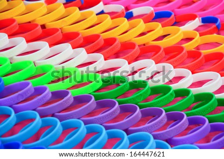 Colorful wristband  - stock photo