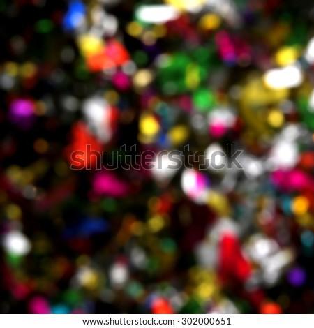 Colorful x-mas bokeh light - stock photo
