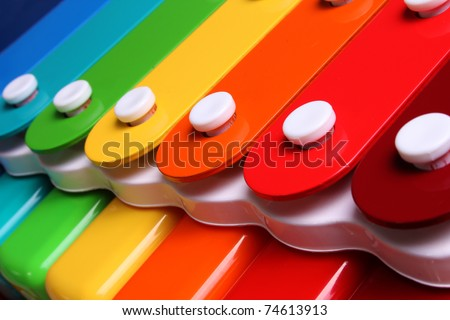 colorful xylophone - stock photo
