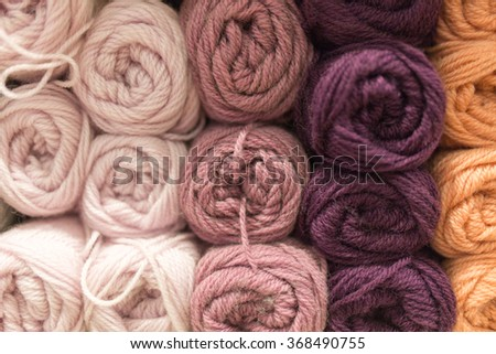 colorful yarn background - stock photo