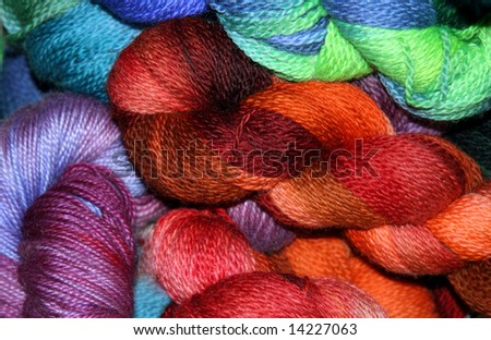 Colorful Yarn Skeins - stock photo