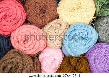 Colorful yarn wool for knitting