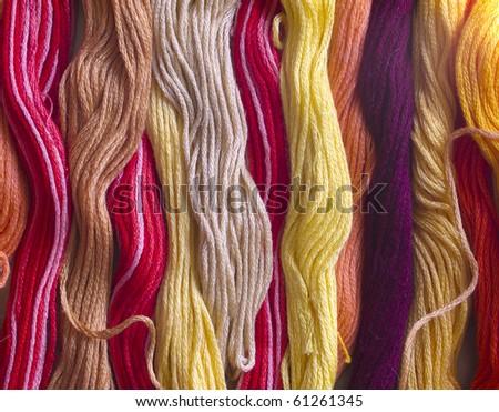 colorful yarns - stock photo