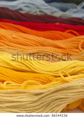 colorful yarns background - stock photo