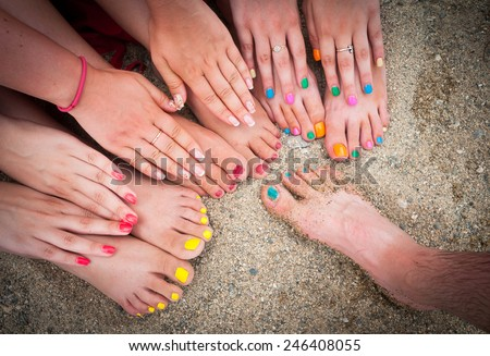 Colorful youth - stock photo