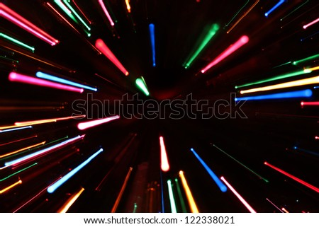 Colorful Zoom Lines - stock photo