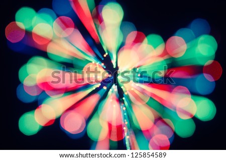 Colorfull abstract moving picture with lights. - stock photo