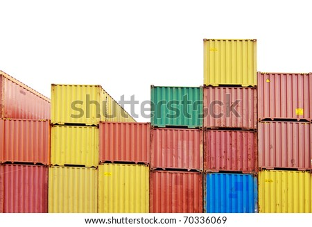 colorfull container - stock photo