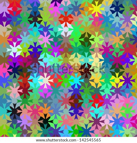 Colorfull pazzle background - stock photo