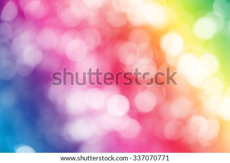 Colorfull ray bokeh glitter defocused lights abstract background. - stock photo