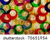 colorfull rings vintage  textured background - stock photo