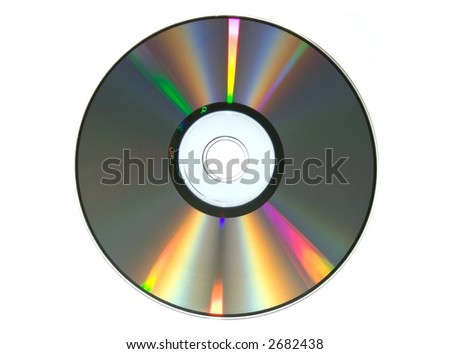 colorfull surface of CD - stock photo