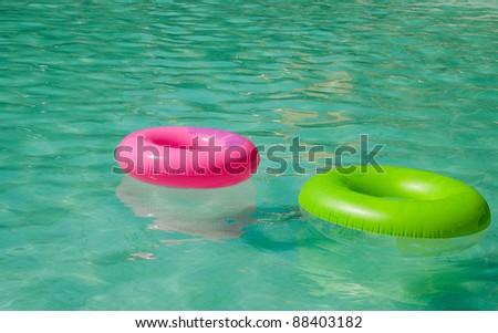Colorfull swim ring - stock photo