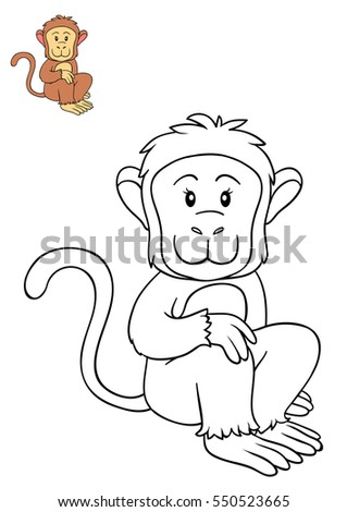 coloring book for children monkey - Coloring Books For Children