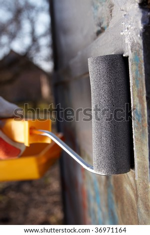 coloring metal - stock photo