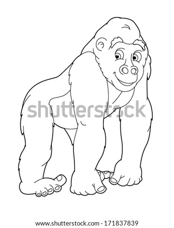 coloring page animal illustration for the children