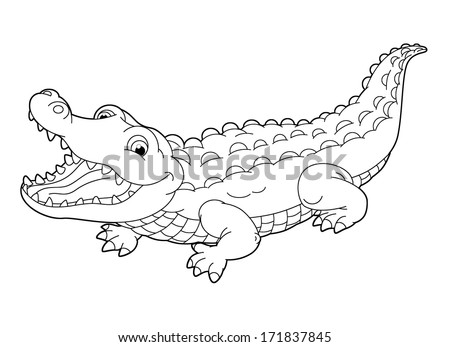 Aligator stock photos images pictures shutterstock for Alligator gar coloring page