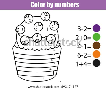 color by numbers educational children game drawing kids activity - Drawing Sheet For Kids