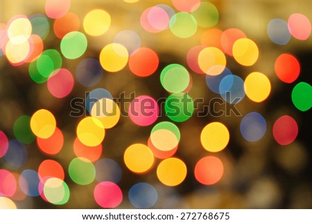 Colorlfull lights background - blured - stock photo