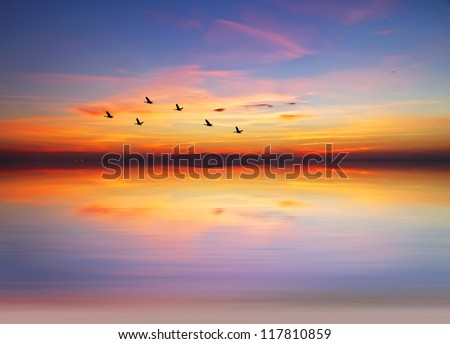 colors across the clouds - stock photo