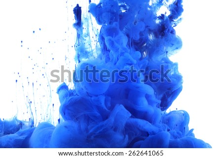 Colors and ink in water. Abstract background. - stock photo