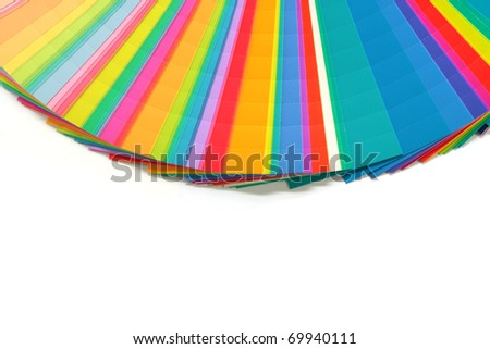 Colors chart. Sample colors - stock photo