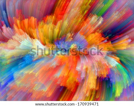 Colors In Bloom series. Artistic background made of fractal color textures for use with projects on imagination, creativity and design - stock photo