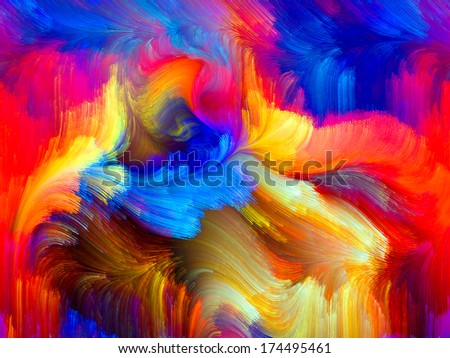 Colors In Bloom series. Backdrop of fractal color textures on the subject of imagination, creativity and design - stock photo
