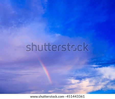 Colors in the Sky After the Storm  - stock photo