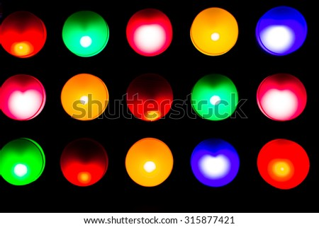 Colors lamp illustration  for light board.  - stock photo