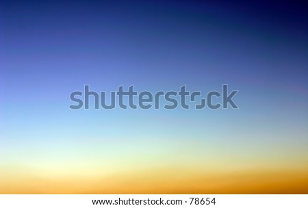 colors of evening sky - stock photo